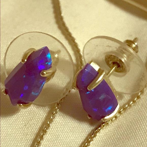 df5a19f11 Kendra Scott Jewelry - Kendra Scott Jillian Earrings Purple Kyocera Opal